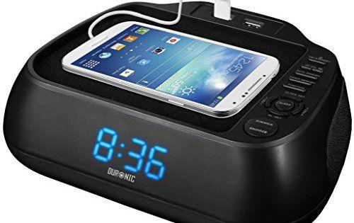 Duronic ACR02 Radio-réveil noir à rétroéclairage bleu – 2 ports USB pour recharger vos appareils: Que vous souhaitez vous réveiller chaque…