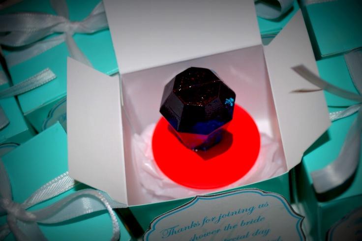 Tiffany's Themed Bridal Shower - favors: Ring Pop in Tiffany's Box