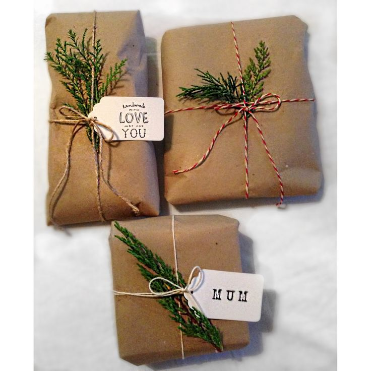 Christmas Gift Present Wrapping Kraft Brown Paper