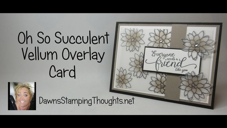 Oh So Succulent Vellum Overlay Card