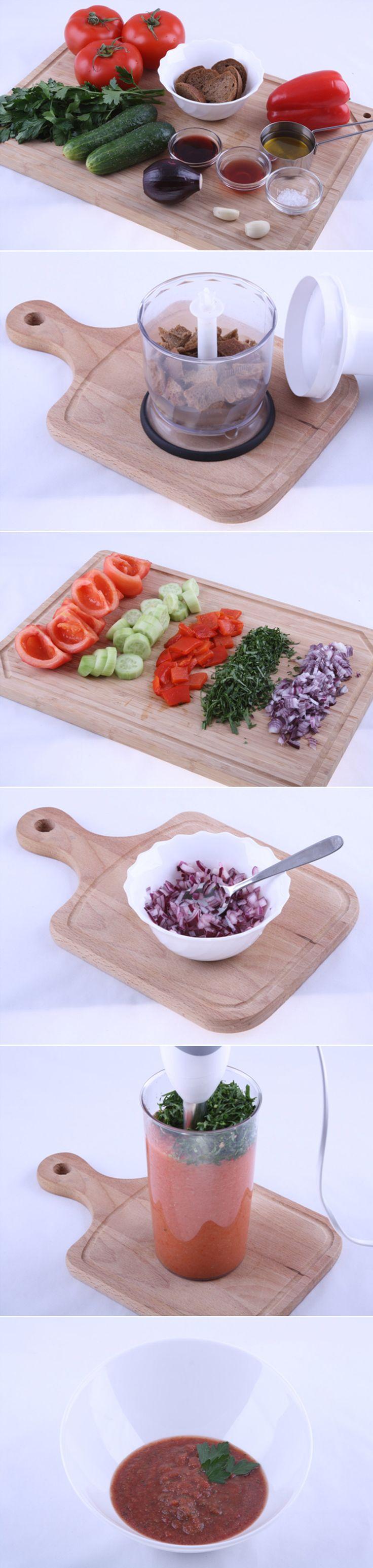 Рецептов гаспачо великое множество, мы покажем вам один из вариантов приготовления этого легкого холодного супа. Суп не представляет особой сложности в приготовлении, он очень низкокалорийный, поэтому рекомендуем тем, кто хочет похудеть или соблюдает диету. Рецепт...http://vk.com/dinnerday; http://instagram.com/dinnerday #суп #кулинария #гаспачо #томат #помидор #диета #вегетарианское #еда #овощи #рецепт #dinnerday #food #cook #recipe #soup #cookery #gazpacho #vegetables #vegetarian #diet…