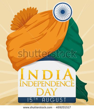 Commemorative colored turban ready to be worn in India Independence Day.