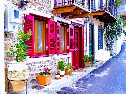 Street of Nafplio in Greece