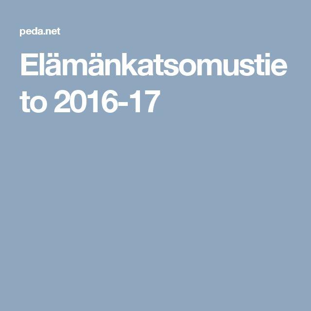 Elämänkatsomustieto 2016-17
