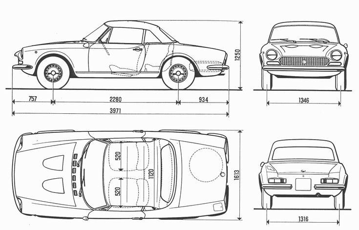 Fiat 124 Sport Spider blueprint