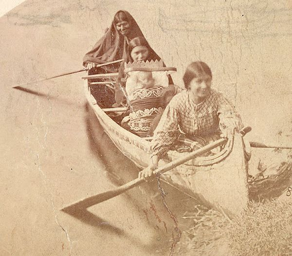 Paddle Making (and other canoe stuff): Ojibwe Women Canoe