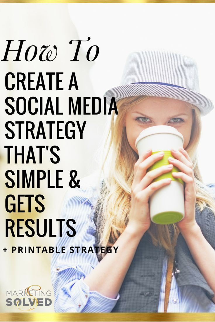 How to Create a #SocialMedia Strategy that's Simple & Gets Results. + Printable Done For You Strategy from Marketing Solved. This is BRILLIANT and broken down so it's easy to follow - plus print the done for you strategy .