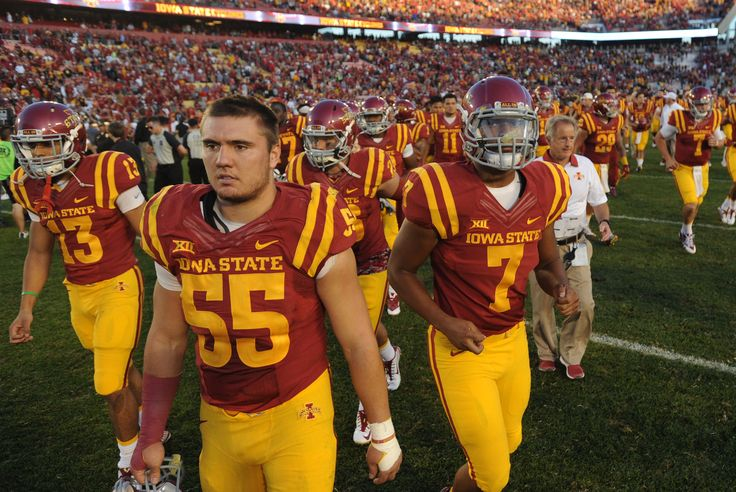 Iowa State players leave the field after losing against Iowa 31-17 on Saturday at Jack Trice Stadium in Ames. Photo Nirmalendu Majumdar/Ames Tribune  http://amestrib.com/sports/football-two-late-scores-push-hawkeyes-past-cyclones