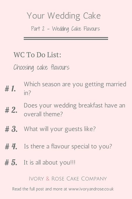 How To Choose Your Wedding Cake Flavours From Ivory Rose Co