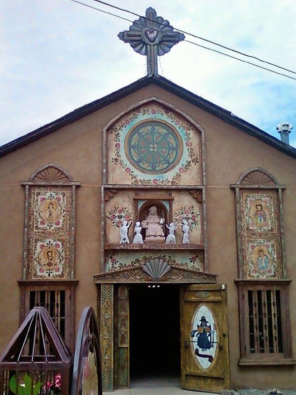 Historic Catholic Church near Chimayo, New Mexico