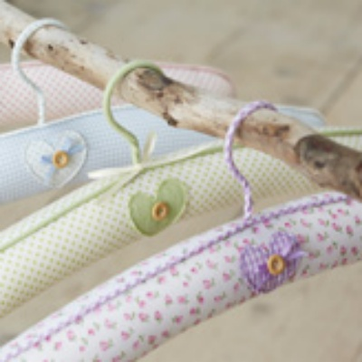 padded hangers with heart