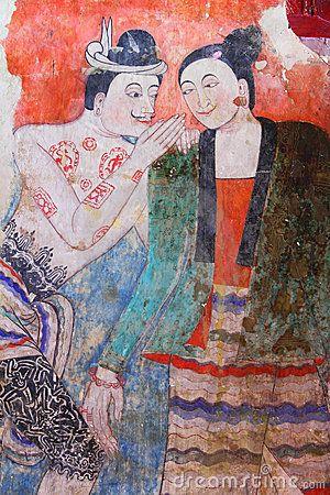 Ancient Lanna Murals, Wat Pumin, Nan Province
