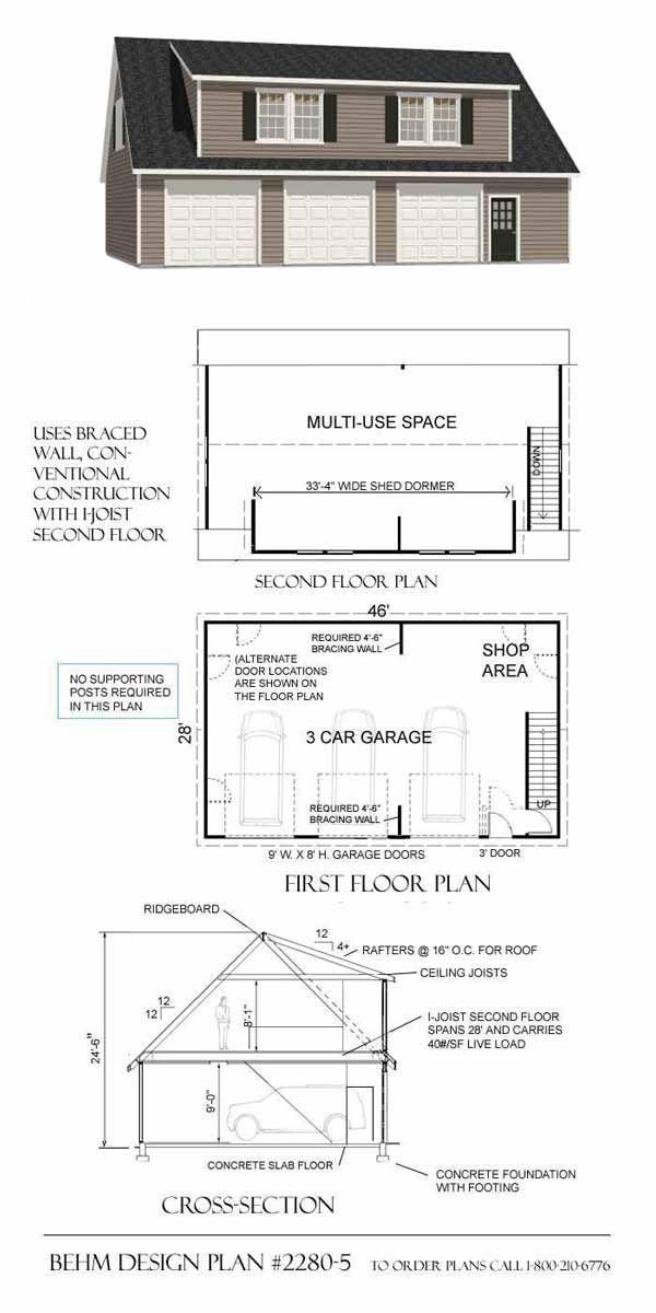 198 best Garage Plans images on Pinterest Garage plans Garage