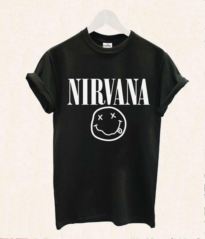 Cheap Mujeres camiseta Nirvana cara sonriente banda de Rock de impresión de algodón Casual camisa divertida para la señora blanco negro Top camiseta inconformista ZT20 236, Compro Calidad Camisetas directamente de los surtidores de China:       Material: algodón         Color: como demostración         Tamaño: S-M-L-XL-XXL-XXXL  (Por favor, medir su tamaño