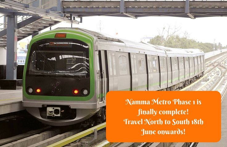 Namma Metro finally connects #North & #South Bangalore.  #Metro #NammaMetro #GreenLine #CityShorBengaluru