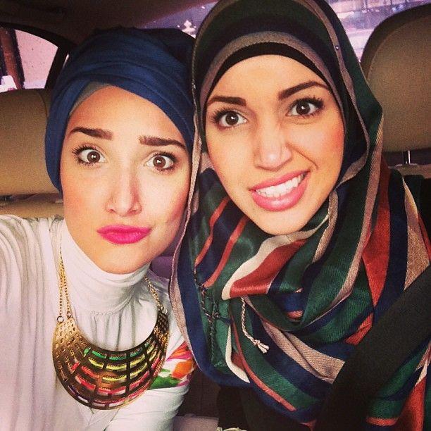 Yaz! Blue: YazTheSpaz is one of my favorite Muslimahs... love her style spunk!