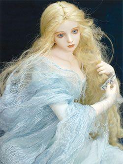 Porcelain Fairy Doll by Japanese artist Wakatsuki Mariko