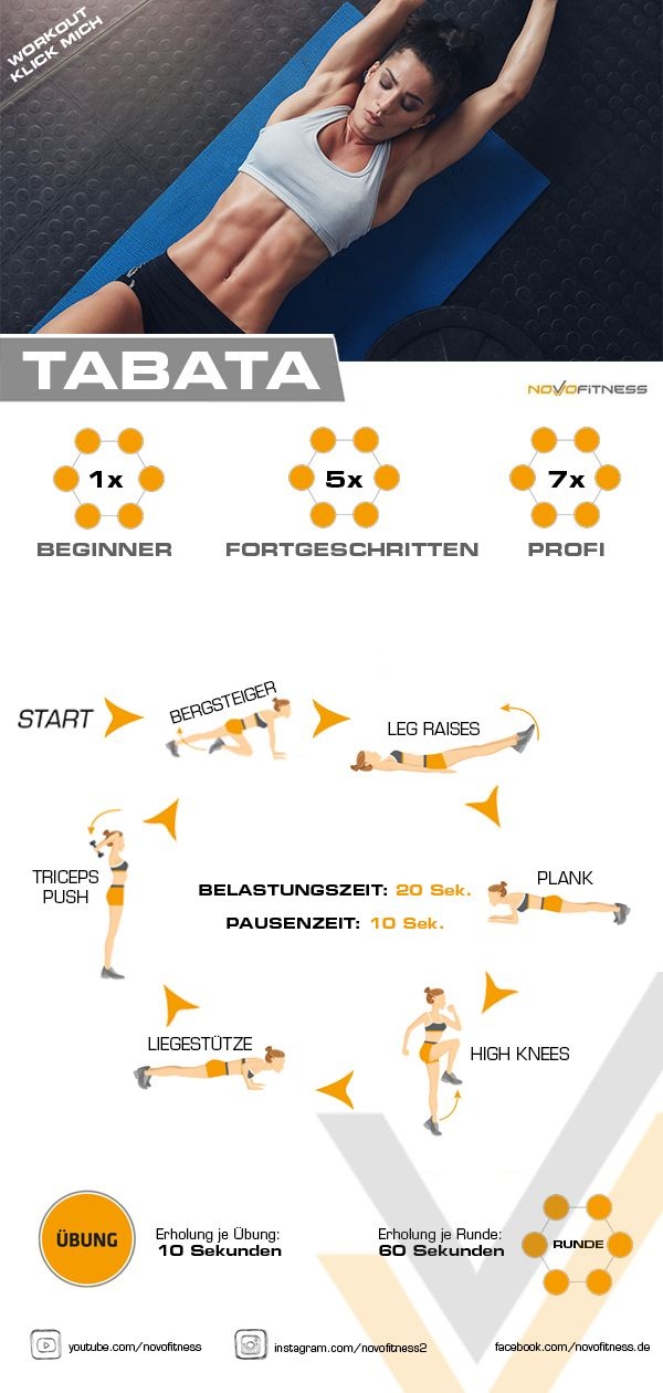 4 Minuten Tabata-Training   – Yoga & health
