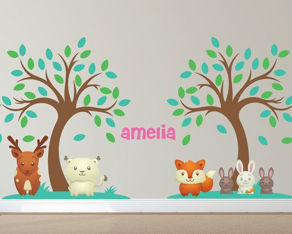Forest Animal Custom Nursery Wall Decals 2 by LullaberryDecals