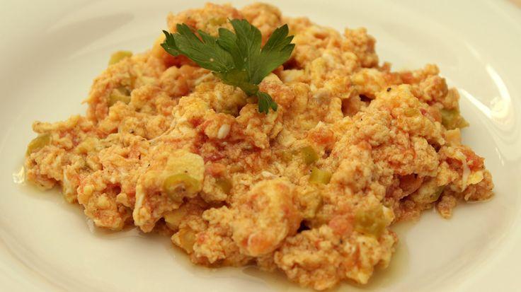 Turkish Menemen - Egg and Tomato Recipe