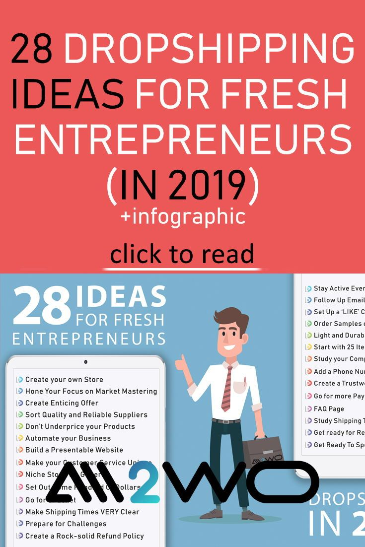 28 Dropshipping Ideas For Fresh Entrepreneurs In 2019 Infographic