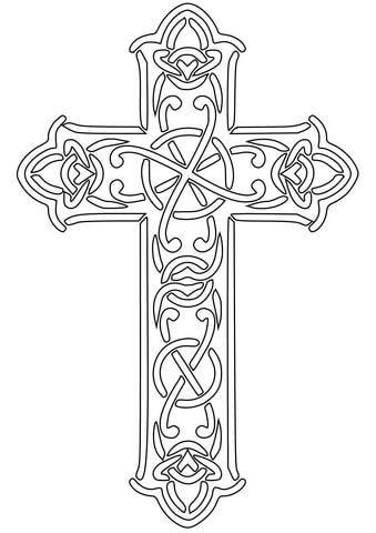 Malvorlage: Keltisches Kreuz Kategorien: Keltische Kunst. Kostenlose Malvorlagen …   – Monogramme