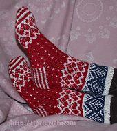 Ravelry: Jorid's Christmas Heart socks pattern by Jorid Linvik