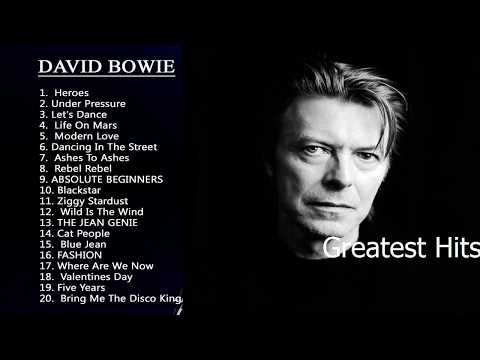 Greatest Hits David Bowie 2017 David Bowie Best Songs  - YouTube