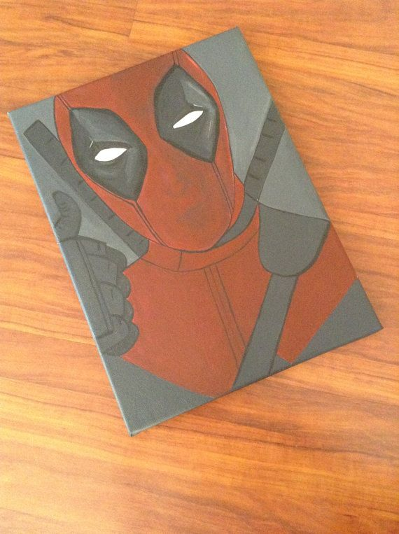 Deadpool canvas artwork wallart design etsy by RTMDesigns on Etsy