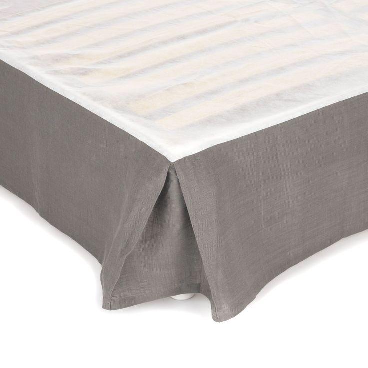 Ordinaire Comment Faire Un Cache Sommier En Tissu #15: Cache Sommier Pour Lit 160x200 Cm - Gralin - Les Cache-sommiers-Lu0027