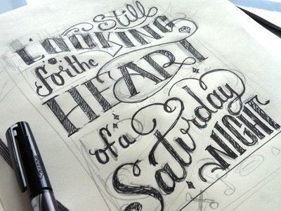 hand drawn type by eloise
