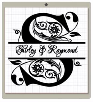 Split Regal Monogram Scrappydiva Blog Silhouette Cameo