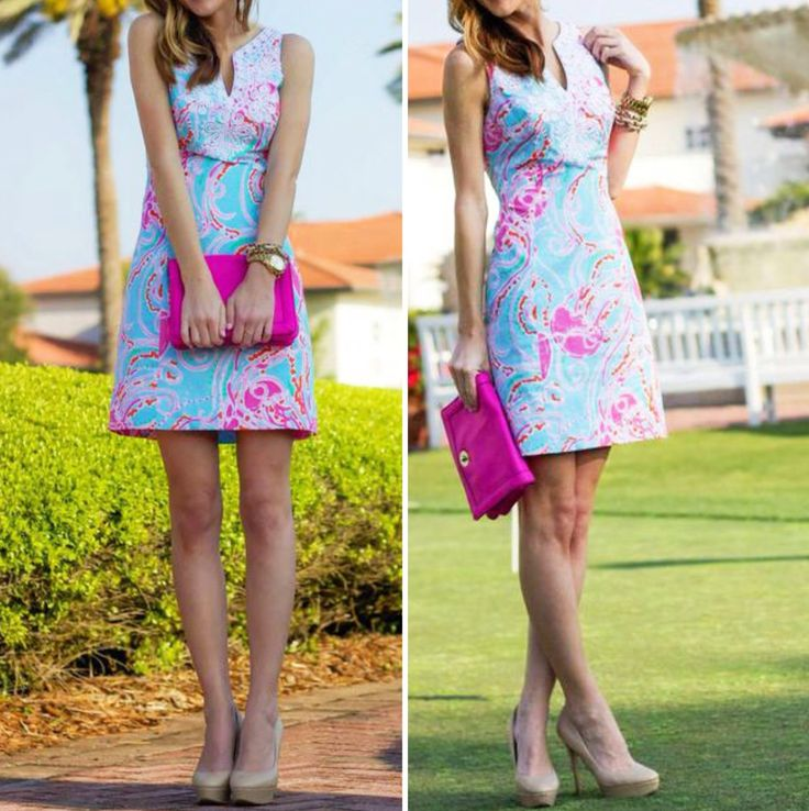 Lilly Pulitzer Gabby Shift Dress worn by @Haley Shepherd | Sequins and Things