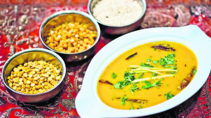 A bowl of bliss: The dhal served at Swad restaurant in Melrose Arch, Johannesburg. (M&G, Delwyn Verasamy)