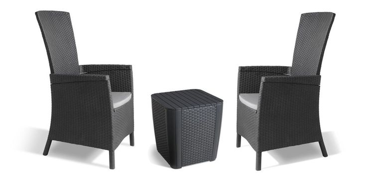 Rattan Garden Furniture Set Outdoor Patio Table Chairs Set Of 3 Graphite/Grey | Garden & Patio, Garden & Patio Furniture, Furniture Sets | eBay!