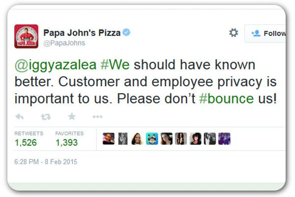 Papa John's gets an earful after jokey #apology to singer: Iggy Azalea accused a delivery driver of giving out her phone number to family members. Papa John's replied by quoting her lyrics, which Azalea didn't seem to appreciate.