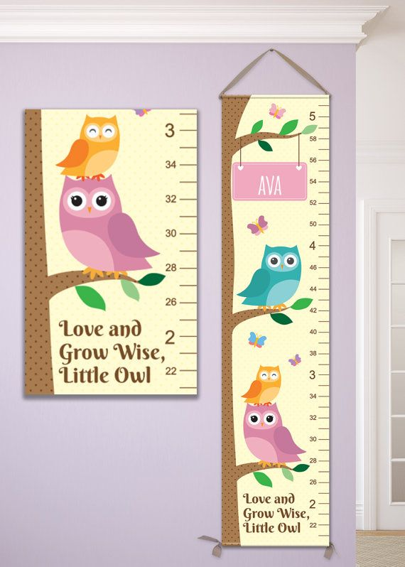 Hey, I found this really awesome Etsy listing at https://www.etsy.com/listing/228847152/owl-growth-chart-grow-wise-little-owl