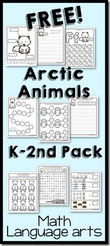 Arctic Animals Update K-2nd Printable Pack
