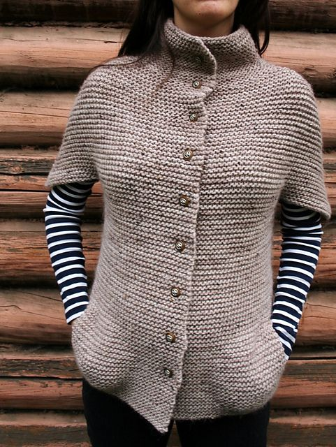 Cozy warm knit with striped T #vest