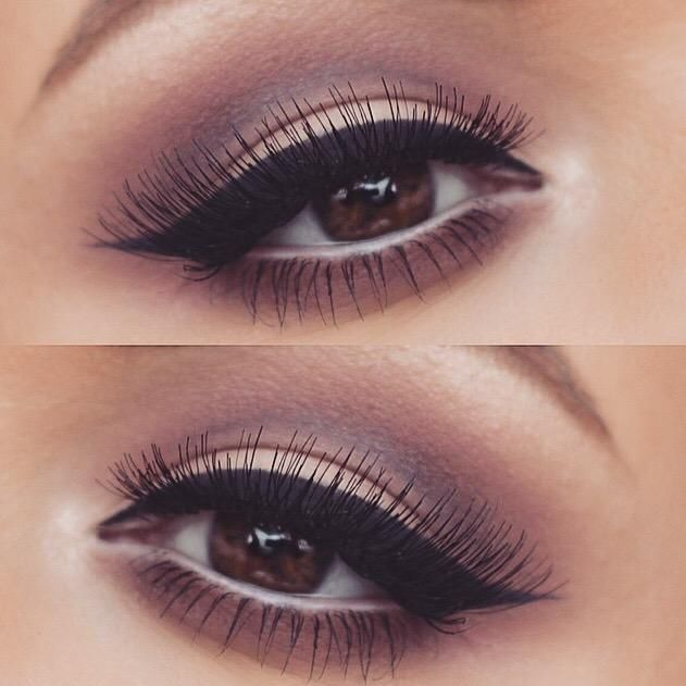 Stunning 'notice me' lashes by @GirlsAttitude with dusty pink, browns and purples from makeup artist RachelHelen1991. Using @sigma_beauty wicked gel liner,  @loraccosmetics pro palette shadows, maccosmetics sketch shadow. Autumn eye makeup inspiration.