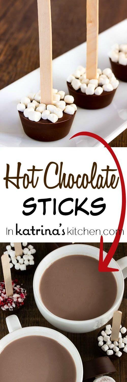 Hot Chocolate Sticks Recipe - just dunk into warm milk and stir!