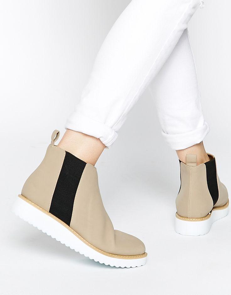 Image 1 of ASOS AFIATA Flatform Chelsea Boots