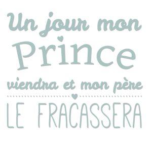 personnaliser tee shirt un jour mon prince viendra
