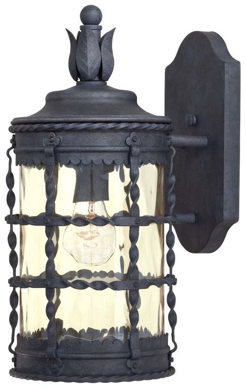 """The Great Outdoors GO 8880 1 Light 16"""" Height Outdoor Wall Sconce from the Mallo Mediterranean Iron Outdoor Lighting Wall Sconces Outdoor Wall Sconces"""