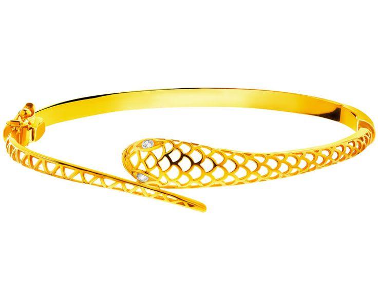 Złota bransoleta - wzór AP124-0088 / Apart