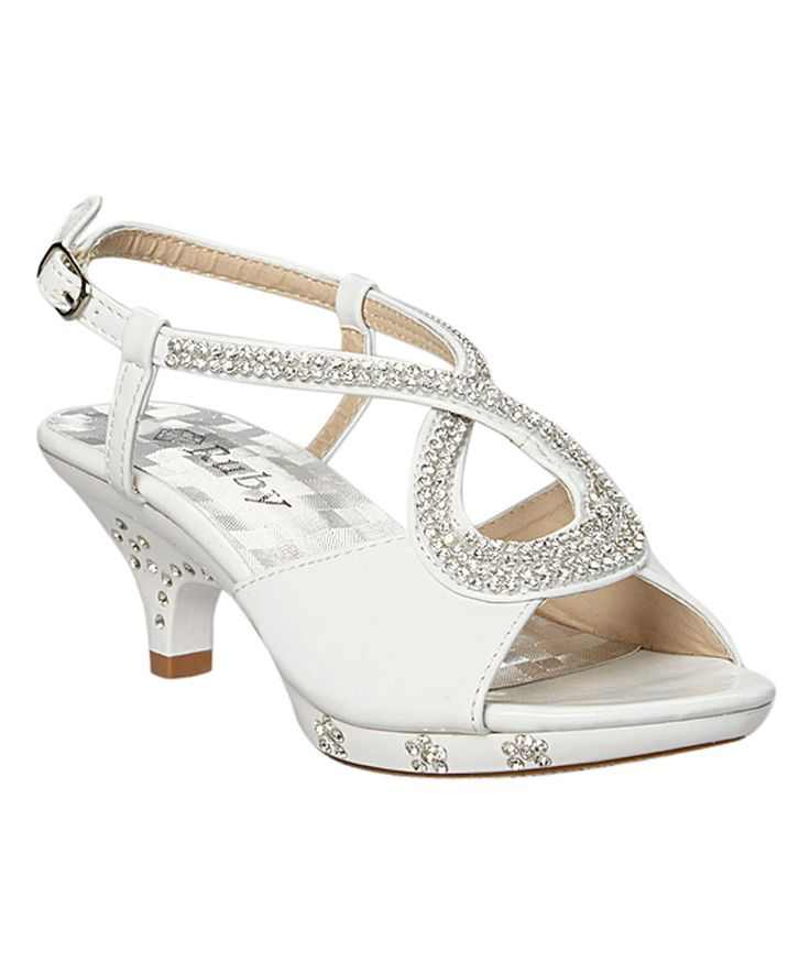 Look at this White Rhinestone Laura Sandal on #zulily today!
