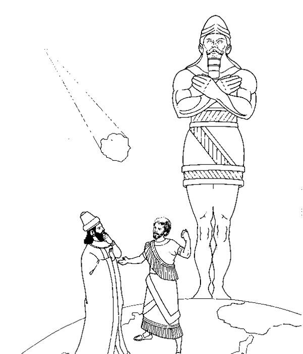 Nebuchadnezzar Dream Coloring Page Statue Of King Nebuchadnezzar