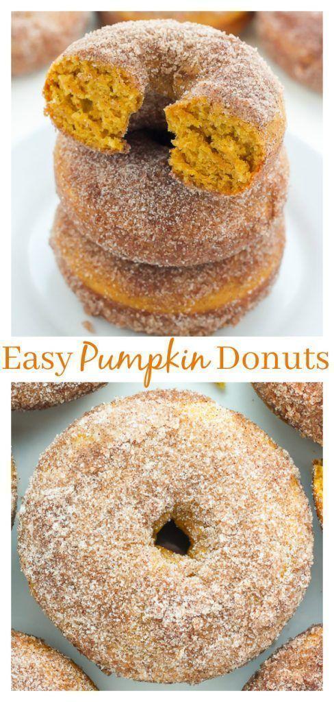 Donuts à la citrouille et au sucre cannelle