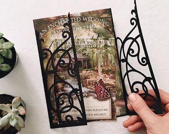 Secret Garden Enchanted Wedding Invitation by GorgeousInvites