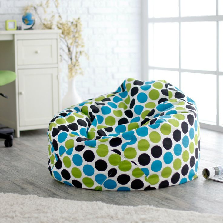 Polka Dot Bean Bag Chair Dorm